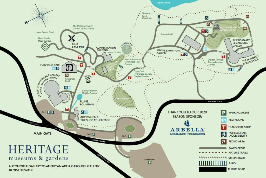 Visit Our Beautiful Cape Cod Gardens & Museums Map