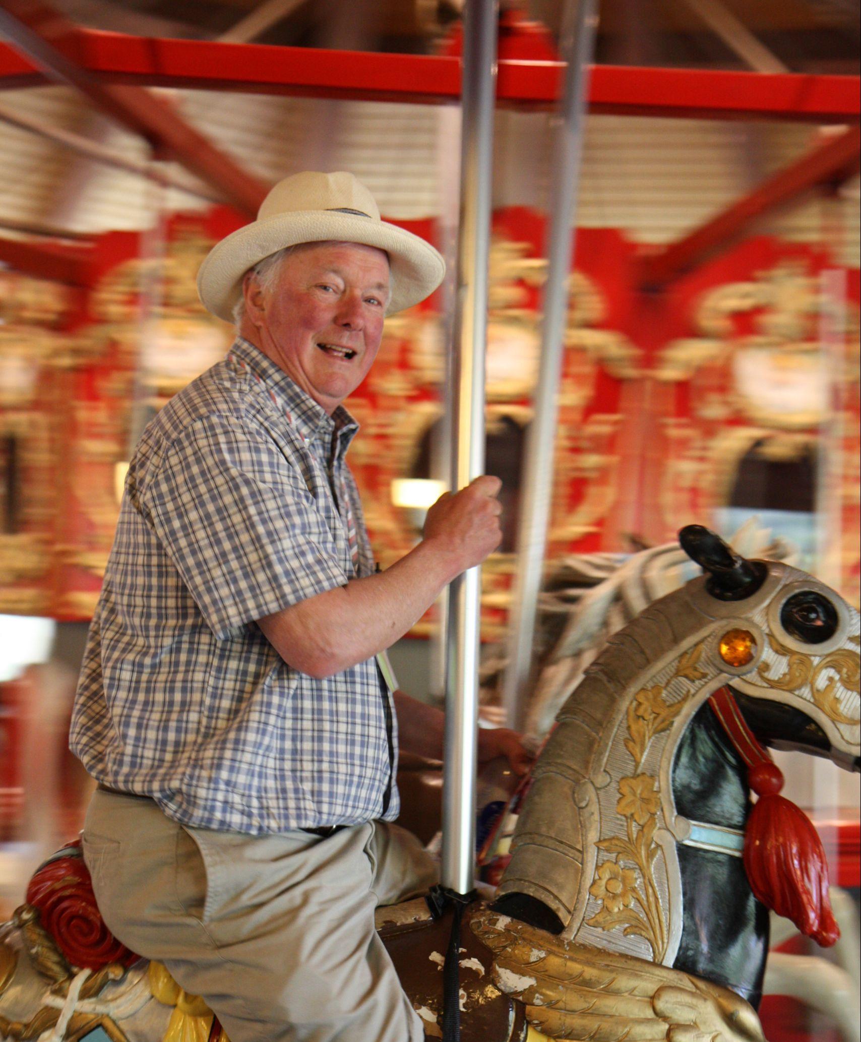 Man on carousel