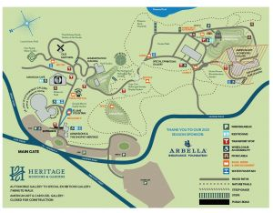 Heritage Museums and Gardens Map