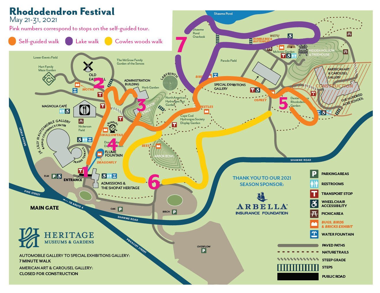 Rhododendron tour map